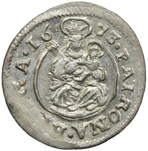 Węgry, Leopold I, denar 1673, Kremnica