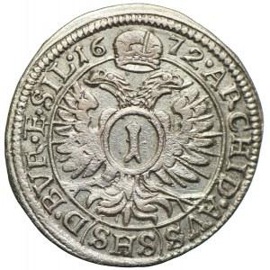 Śląsk pod panowaniem habsburskim, Leopold I, 1 krajcar 1672 SHS, Wrocław