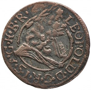 Austria, Leopold I, 1 krajcar, Hall