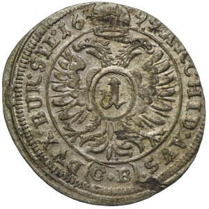 Śląsk pod panowaniem habsburskim, Leopold I, 1 krajcar 1699 CB, Brzeg