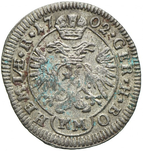 Austria, Leopold I, 1 krajcar 1702 KM, Kutna Hora