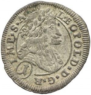 Austria, Leopold I, 1 krajcar 1701 CK, Kutna Hora