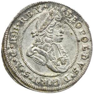 Śląsk pod panowaniem habsburskim, Leopold I, 1 krajcar 1698 CB, Brzeg