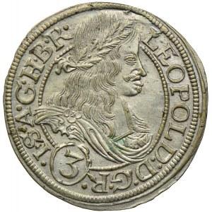 Śląsk pod panowaniem habsburskim, Leopold I, 3 krajcary 1666 SHS, Wrocław