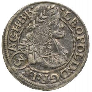 Śląsk pod panowaniem habsburskim, Leopold I, 3 krajcary 1669 SHS, Wrocław