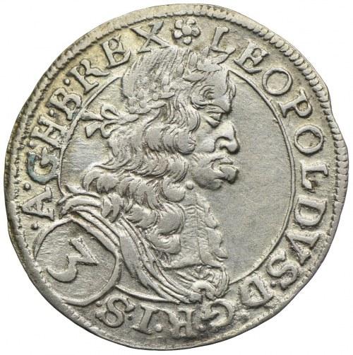 Austria, Leopold I, 3 krajcary 1668, Wiedeń