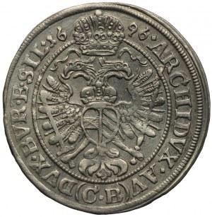 Śląsk pod panowaniem habsburskim, 3 krajcary 1696 CB, Brzeg