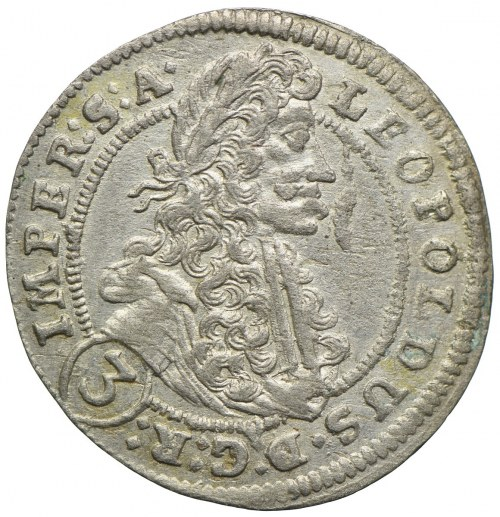 Austria, Leopold I, 3 krajcary 1702, Praga