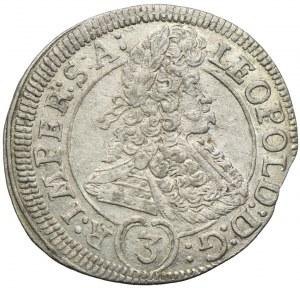 Austria, Leopold I, 3 krajcary 1695, Praga