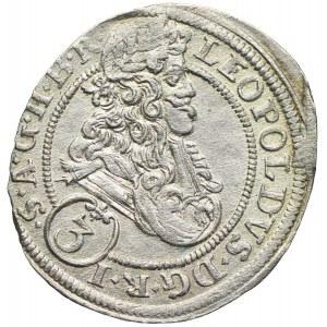 Śląsk pod panowaniem habsburskim, Leopold I, 3 krajcary 1702, Opole