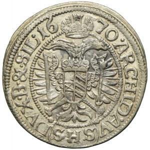 Śląsk pod panowaniem habsburskim, Leopold I, 3 krajcary 1670, Wrocław