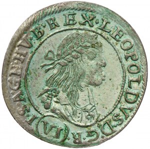 Węgry, Leopold I, 6 krajcarów 1670, Kremnica