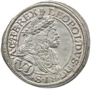 Austria, Leopold I, 6 krajcarów 1677, Wiedeń