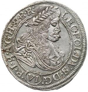 Śląsk pod panowaniem habsburskim, Leopold I, 6 krajcarów 1674, Wrocław