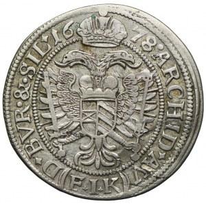 Śląsk pod panowaniem habsburskim, Leopold I, 6 krajcarów 1678, Opole