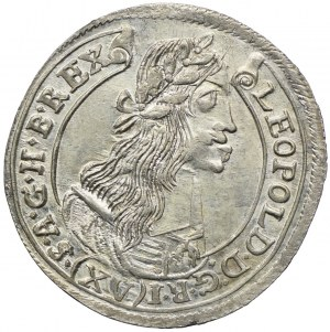 Węgry, Leopold I, 15 krajcarów 1677