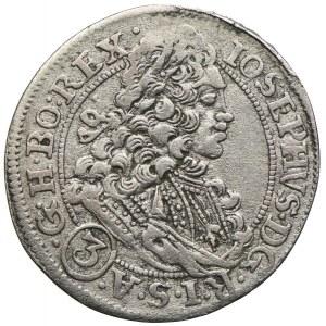 Śląsk pod panowaniem habsburskim, Józef I, 3 krajcary 1711, Wrocław