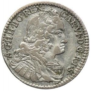 Austria, Karol VI, 3 krajcary 1739, Hall