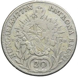 Węgry, Maria Teresa, 20 krajcarów 1777, Kremnica