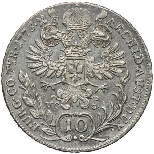 Austria, Maria Teresa, 10 krajcarów 1775 VC-S, Hall