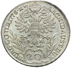 Austria, Maria Teresa, 20 krajcarów 1776, Wiedeń