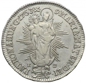 Węgry, Maria Teresa, 1/2 talara 1763 KB, Kremnica