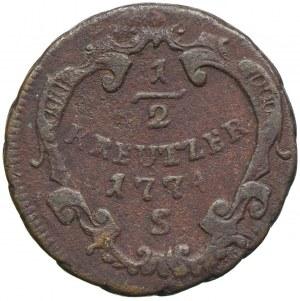 Austria, Józef II, 1/2 krajcara 1774 S, Smolnik