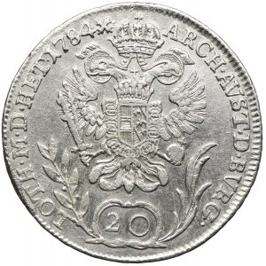Austria, Józef II, 20 krajcarów 1784, Kremnica