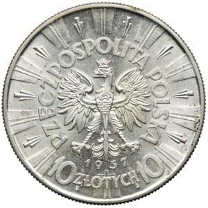 10 złotych 1937, Józef Piłsudski