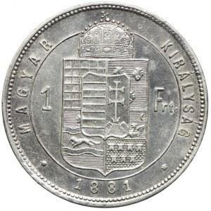Węgry, Franciszek Józef I, 1 forint 1881, Kremnica