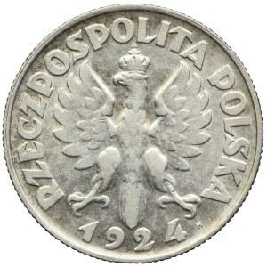 2 złote 1924 H, Birmingham, Kobieta i kłosy