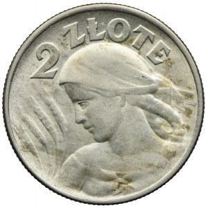 2 złote 1924 Filadelfia-odwrotka, Kobieta i kłosy