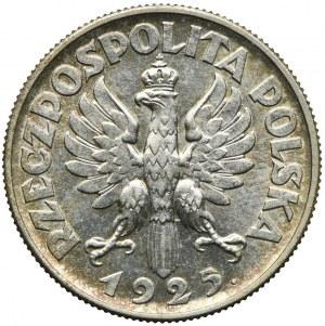 2 złote 1925 Londyn, z kropką po dacie, Kobieta i kłosy