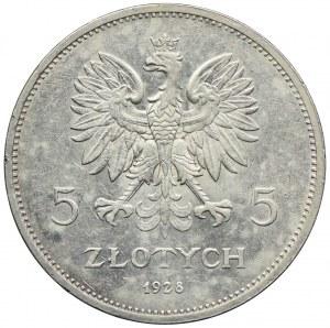 5 złotych 1928, Bruksela, Nike
