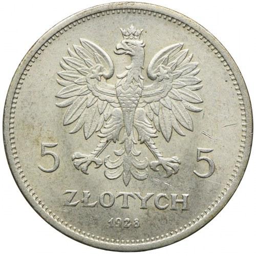 5 złotych 1928, Warszawa, Nike