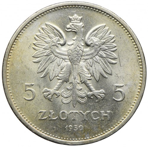 5 złotych 1930, Warszawa, Nike