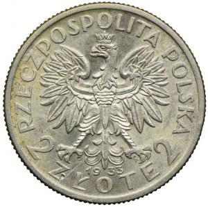 2 złote 1933, Głowa Kobiety