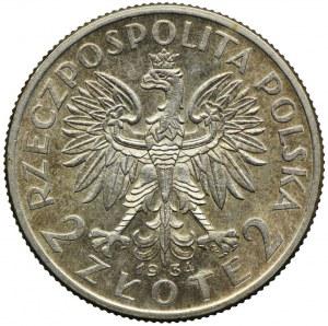 2 złote 1934, Głowa Kobiety