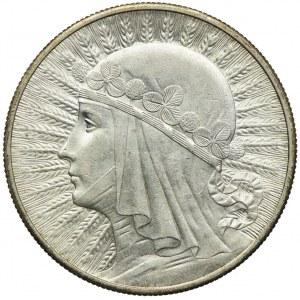 10 złotych 1932 bz, Londyn, Głowa Kobieta
