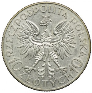 10 złotych 1933, Głowa Kobieta