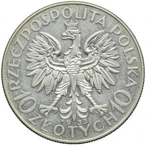 10 złotych 1933, Głowa Kobiety