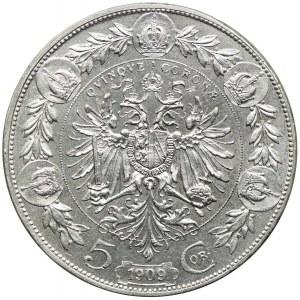 Austria, Franciszek Józef I, 5 koron 1909