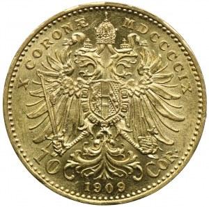 Austria, Franciszek Józef I, 10 koron 1909