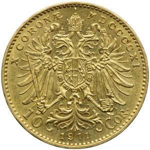 Austria, Franciszek Józef I, 10 koron 1911