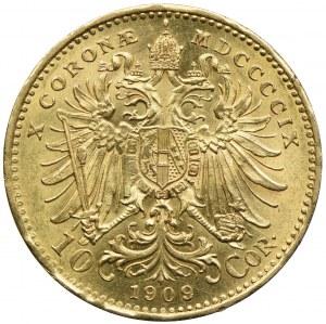 Austria, Franciszek Józef I, 10 koron 1909, Kremnica