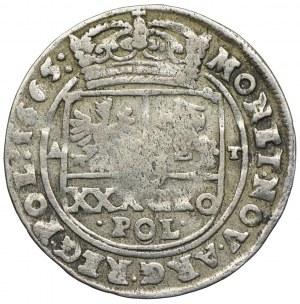 Jan II Kazimierz, tymf (złotówka) 1665, Bydgoszcz