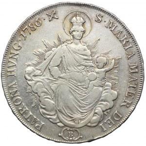 Węgry, Józef II, talar 1786, Kremnica