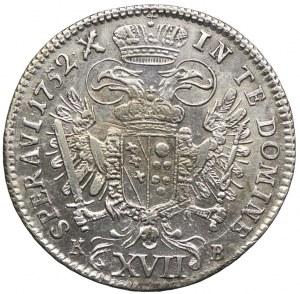 Austria, Franciszek I, 17 krajcarów 1752, Kremnica