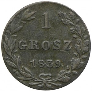 Królestwo Kongresowe, Mikołaj I, 1 grosz 1839 MW, Warszawa