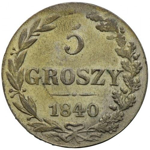 Królestwo Kongresowe, Mikołaj I, 5 groszy 1840 MW, Warszawa